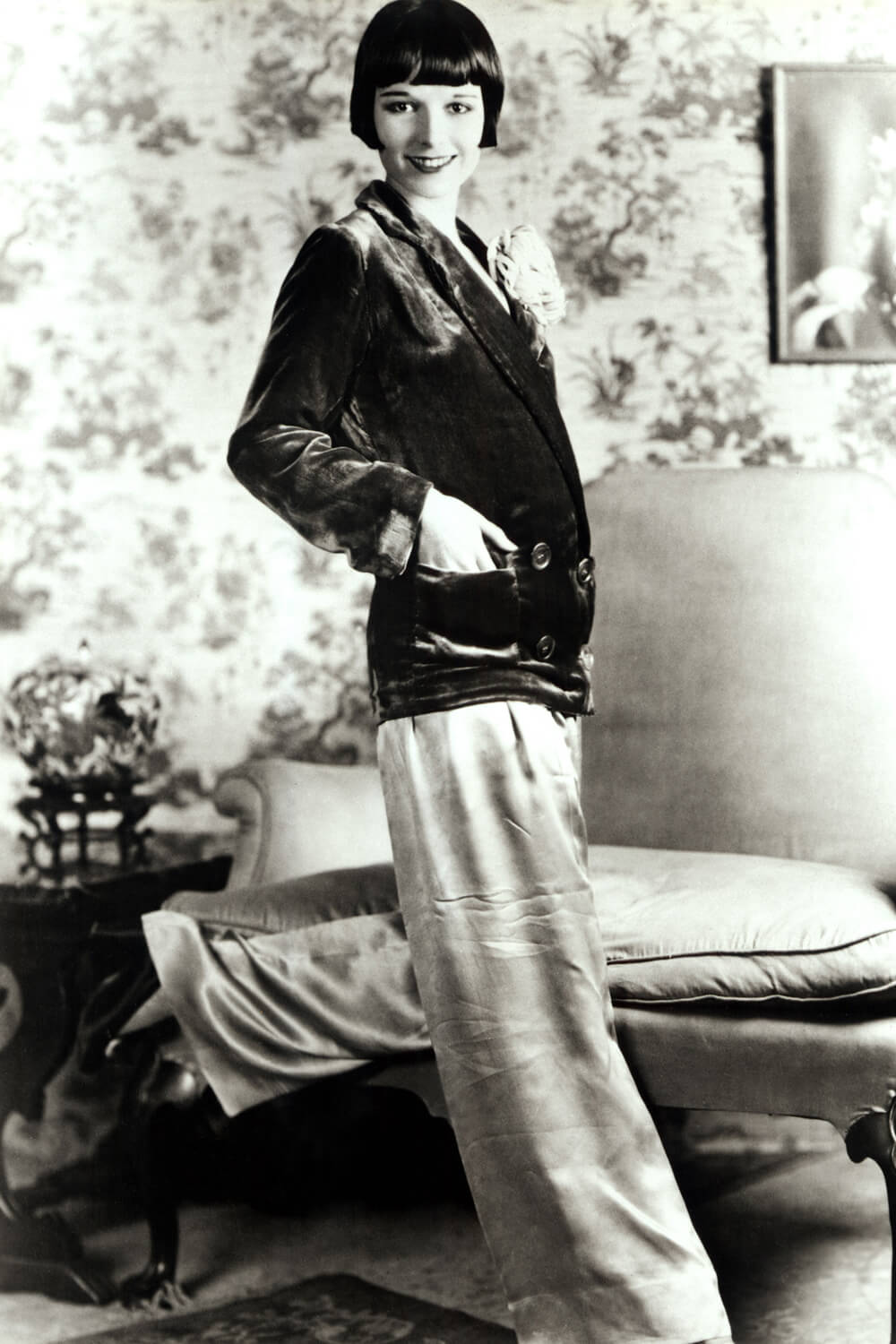 Louise Brooks in palazzo trousers, 1920's Jazz Age